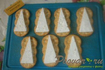 Закуска на печенье крекер Шаг 4 (картинка)