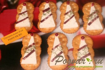 Закуска на печенье крекер Шаг 6 (картинка)