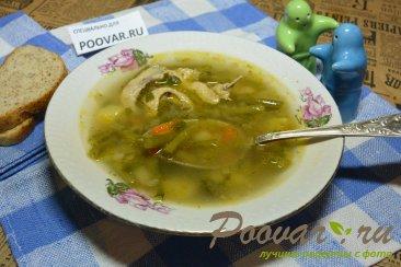 Куриный суп со стручковой фасолью Изображение