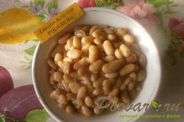 Борщ постный с фасолью и грибами Шаг 2 (картинка)