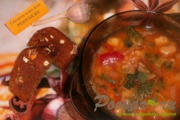 Борщ постный с фасолью и грибами Изображение