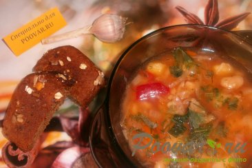 Борщ постный с фасолью и грибами Шаг 10 (картинка)