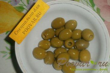 Куриные котлеты с луком и оливками Шаг 5 (картинка)