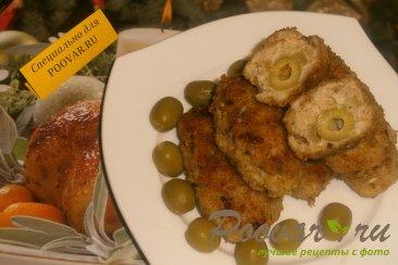 Куриные котлеты с луком и оливками Шаг 12 (картинка)