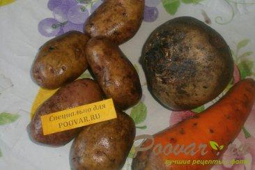 Винегрет овощной с грибами и оливками Шаг 1 (картинка)
