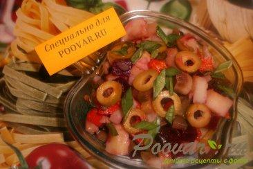 Винегрет овощной с грибами и оливками Шаг 11 (картинка)