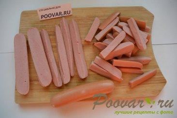 Жареные пирожки с сосиской и картошкой Шаг 5 (картинка)