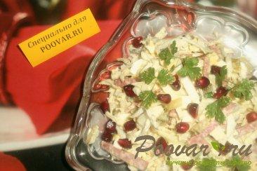 Салат из пекинской капусты с колбасой и огурцами Шаг 6 (картинка)