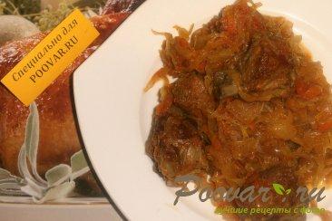 Бигос из свиных рёбрышек и колбасок Изображение