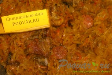 Бигос из свиных рёбрышек и колбасок Шаг 14 (картинка)