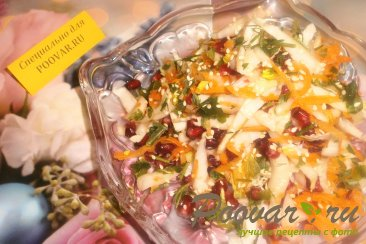 Салат из пекинской капусты, моркови и граната Шаг 7 (картинка)