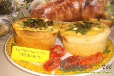 Киш с грибами и овощами Изображение