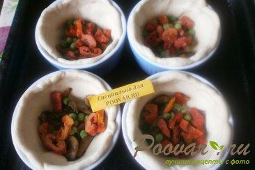 Киш с грибами и овощами Шаг 13 (картинка)