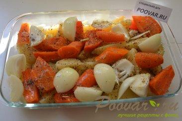 Картофель с морковью и луком в духовке Шаг 3 (картинка)
