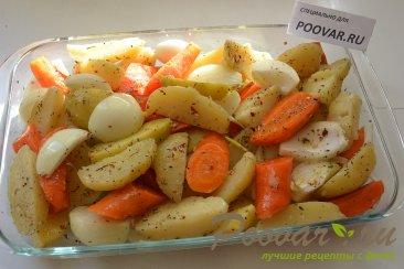 Картофель с морковью и луком в духовке Шаг 4 (картинка)