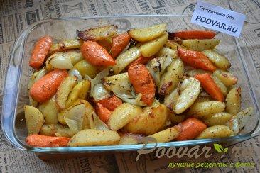 Картофель с морковью и луком в духовке Шаг 5 (картинка)