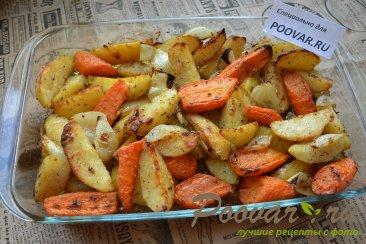Картофель с морковью и луком в духовке Шаг 6 (картинка)