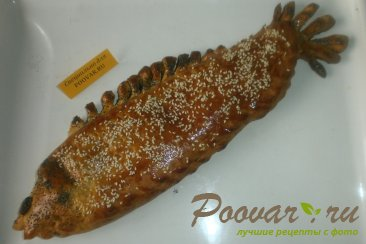 Рыбный пирог из дрожжевого теста Шаг 12 (картинка)