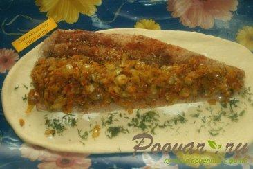 Рыбный пирог из дрожжевого теста Шаг 8 (картинка)