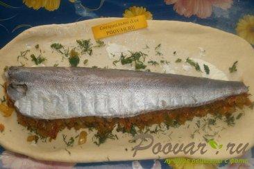 Рыбный пирог из дрожжевого теста Шаг 9 (картинка)
