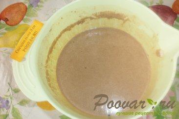 Шоколадные блинчики с творогом и черносливом Шаг 4 (картинка)