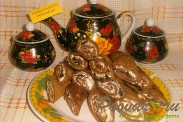 Шоколадные блинчики с творогом и черносливом Шаг 13 (картинка)