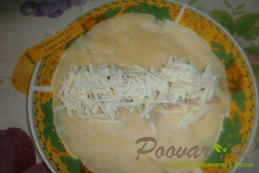 Блинчики с сыром и колбасой Шаг 11 (картинка)