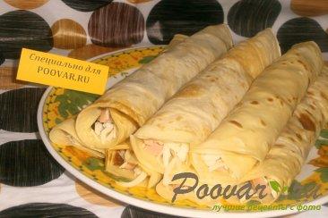 Блинчики с сыром и колбасой Шаг 12 (картинка)