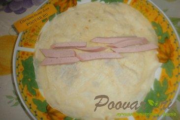 Блинчики с сыром и колбасой Шаг 10 (картинка)