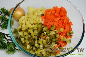 Постный винегрет (из печеных овощей) Шаг 8 (картинка)
