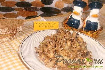 Гречка с грибами и луком Изображение