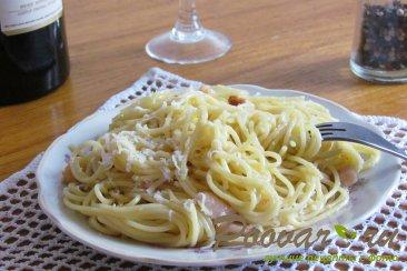 Паста карбонара с беконом (классический рецепт) Изображение