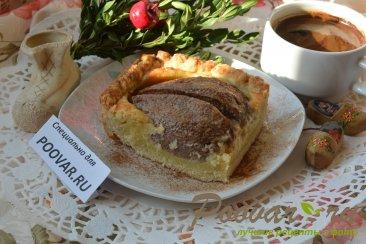 Открытый пирог с грушей Изображение