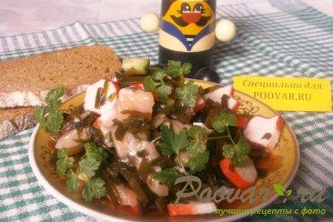 Салат из морской капусты и брюшек сёмги Изображение
