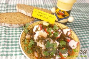 Салат из морской капусты и брюшек сёмги Шаг 7 (картинка)