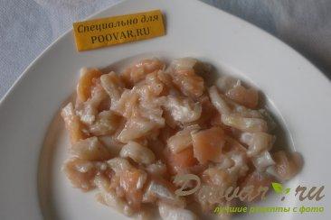 Салат из морской капусты и брюшек сёмги Шаг 4 (картинка)
