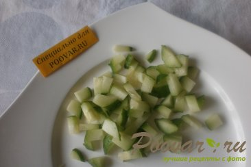 Салат из морской капусты и брюшек сёмги Шаг 5 (картинка)