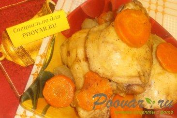 Куриные бёдрышки с овощами в рукаве Изображение