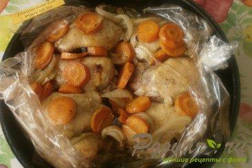 Куриные бёдрышки с овощами в рукаве Шаг 7 (картинка)