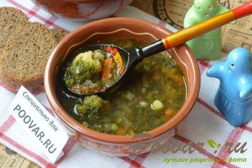 Постный чечевичный суп с овощами Изображение