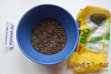 Постный чечевичный суп с овощами Шаг 1 (картинка)