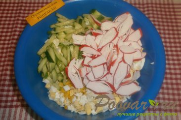 Салат из крабовых палочек и огурца Шаг 5 (картинка)