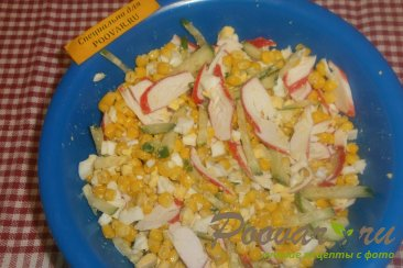 Салат из крабовых палочек и огурца Шаг 6 (картинка)