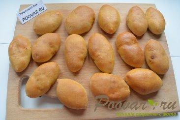 Постные пирожки с капустой из дрожжевого теста Шаг 14 (картинка)