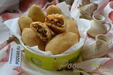 Постные пирожки с грибами и капустой в духовке Изображение
