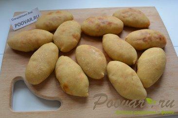 Постные пирожки с грибами и капустой в духовке Шаг 12 (картинка)
