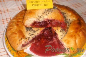 Постный пирог с ягодами и цукатами Изображение