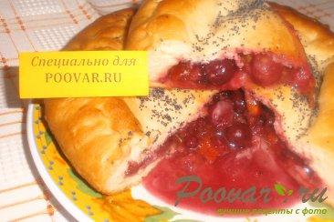 Постный пирог с ягодами и цукатами Шаг 8 (картинка)