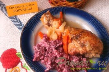Куриные голени на сковороде Изображение