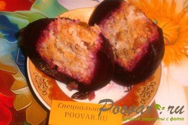 Свекла фаршированная рисом, изюмом и яблоками Шаг 7 (картинка)